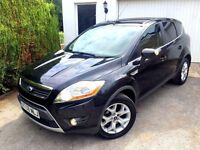 **LOW MILES** 2008 FORD KUGA ZETEC 4X4 2.0 TDCI BLACK 6 SPEED MANUAL DIESEL -
