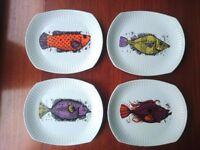 Mid century retro plate set - Washington Pottery