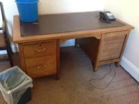 Partners desk oak