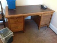 Partners desk oak