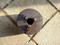 Metal Lathe 3 Jaw Early Pratt Chuck 6 inch Diameter