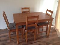 Ikea JokkMokk Antique Dining Table with 4 chairs