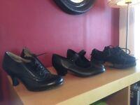 Set of dance shoes size 4