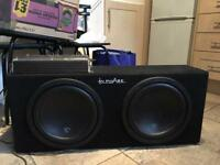 In phase sub woofer box and juicy amp!!