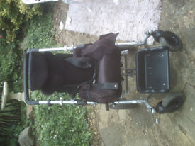 Medical and disability wheel chair heavy metal very solid.