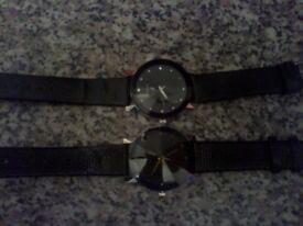 5 brand new luxury dress analog quartz mens watches with leather straps