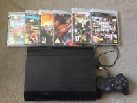 Sony PS3 Console with remote & games