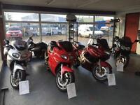 Honda, Kawasaki, Triumph, Suzuki, Harley, Vespa, Buell, Yamaha at Hurricane Car & Motorcycle sales