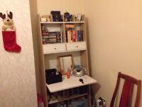Desk/Bookshelf and Storage. £20