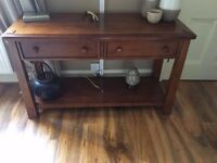 STUNNING 2 PIECE SET COMPRISING OF SIDEBOARD AND SIDE TABLE - EXCELLENT CONDITION