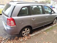 AUTOMATIC DIESEL 7 SEATER-Vauxhall ZAFIRA EXCLUSIV-LOW MILEAGE,FULL SERVICE HISTORY,10 months MOT
