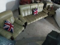 Ekornes Stressless Vintage 70,s Montana 3 piece Leather suite Del Poss