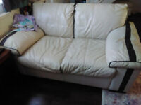 Real Leather Sofa and Armchair