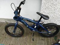 boys bike size 14'