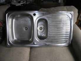 Stainless Steel Bowl And A Half Inset Sink Top Weymouth