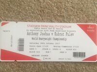3 Anthony Joshua tickets 28th oct Cardiff principality stadium