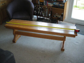 Solid oak refectory bench seat