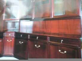Immaculate Morris of Glasgow Dining/living room mahogany corner unit