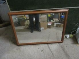 2 x wooden mirrors - good condition - bedroom, hall living room etc £5 each