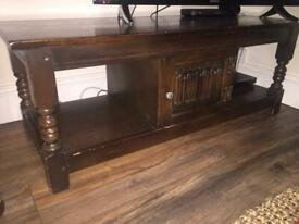 Solid wooden coffee table / TV unit