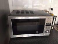 Sainsburys 700W Stainless Steel & Black Microwave & Grill
