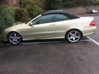 Mercedes Benz CLK gold Convertible Semi Automatic immaculate condition
