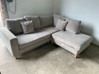 Grey Harvey's corner sofa, couch(SOLD PENDING DELIVERY TO FIONA)