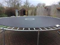 12 ft Trampoline with ladder and enclosure