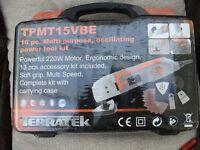 TERRATEK 15 PIECE MULTI PURPOSE OSCILLATING POWER TOOL KIT (New & Boxed)
