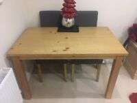 Oak Dining Table for sale minus chairs