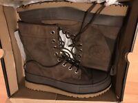 (Never worn) Uk 10 converse ct major mills boots (chocolate brown)