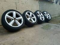 "ONE DAY PRICE 18"" GENUINE RONAL 5X112 VW AUDI SEAT SKODA ALLOY WHEELS"