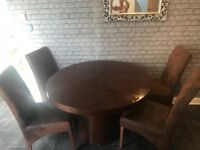 Wood round dining table and chairs **reduced for quick sale**