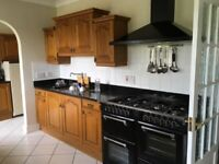 Used Schreiber Kitchen unit solid oak doors 23, draw fronts 12 plus free units if wanted., used for sale  Wraysbury, Surrey