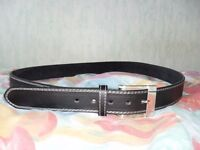 New never worn Black Real Leather Belt size 135