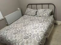 IKEA Tarvik King sized bed with upgraded slats and sprung mattress