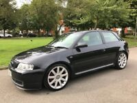 Audi S3 1.8T Bam 225 Quattro Black 270bhp Full Service History 2002