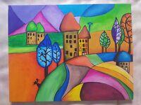 Handmade/ Handpainted Canvas