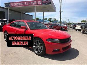 2015 Dodge Charger r/t RT plus cuir noir blanc toit mags bas kil