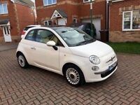 2014 FIAT 500 1.2 LOUNGE, MOT 12 MONTH, GLASS SUNROOF, PARKING SENSORS, FULL HISTORY, £20 TAX