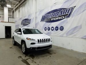 2016 Jeep Cherokee Limited W/ Leather, Remote Start, 4WD
