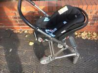 Mamas and papas pushchair with baby carry seat
