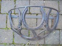Cast Iron Horse Shoe Garden Wall Planter.