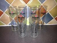 Set of 6 Heineken beer pint glasses