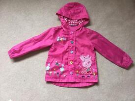 Peppa Pig raincoat. Age 3-4 years