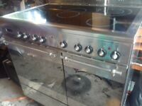 ELBA EXCELLENCE 90cm RANGE COOKER Double OVEN. CHROME