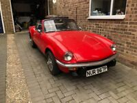Triumph Spitfire 1500 Overdrive 1976 in red