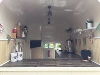 Horse trailer catering conversion