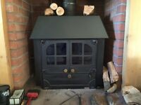 Charnwood multi fuel wood burning boiler stove.