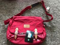 Diesel Red funky satchel bag